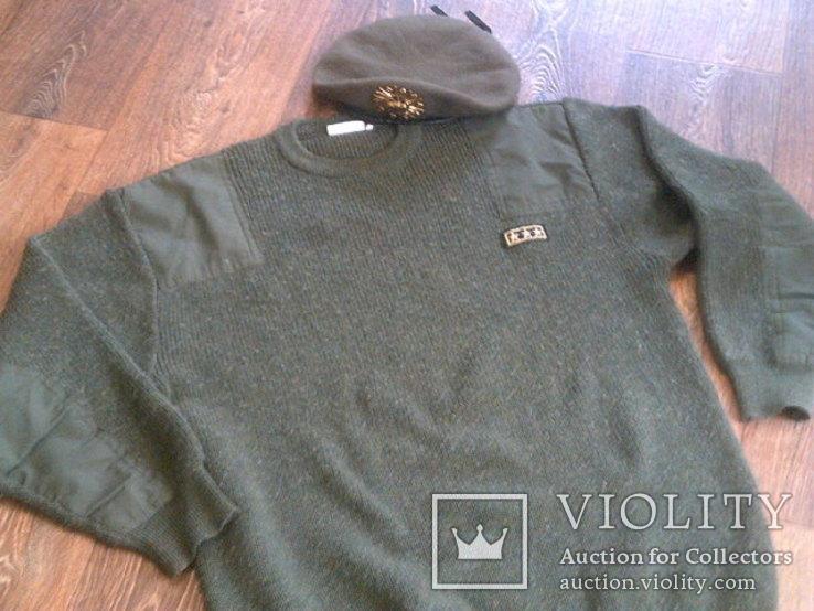 Commando свитер + берет зеленый, фото №4