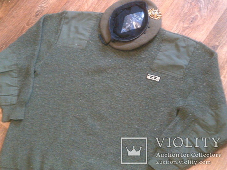 Commando свитер + берет зеленый, фото №8
