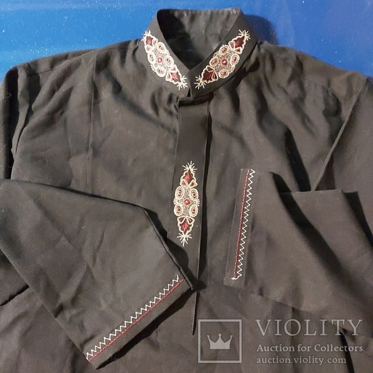 Восточная мужская рубашка с вышивкой, фото №2
