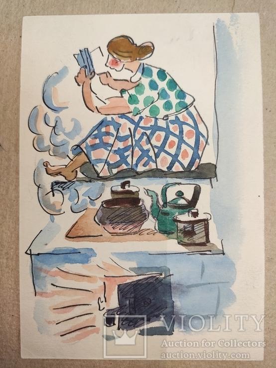 Г.А.Бондаренко. 1958г. Сов.график.1892-1969. Харьков., фото №6