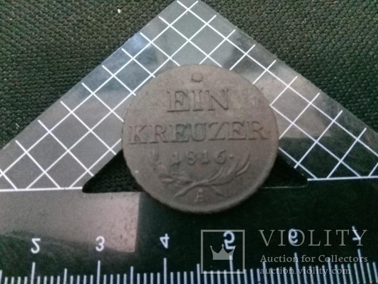 Монета Австрии Старая 1816, фото №2