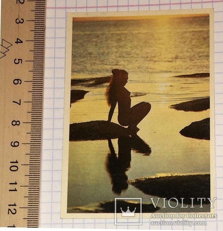 Календарик  девушка, 1991 г. (эротика, 01) / дівчина, еротика, фото №2