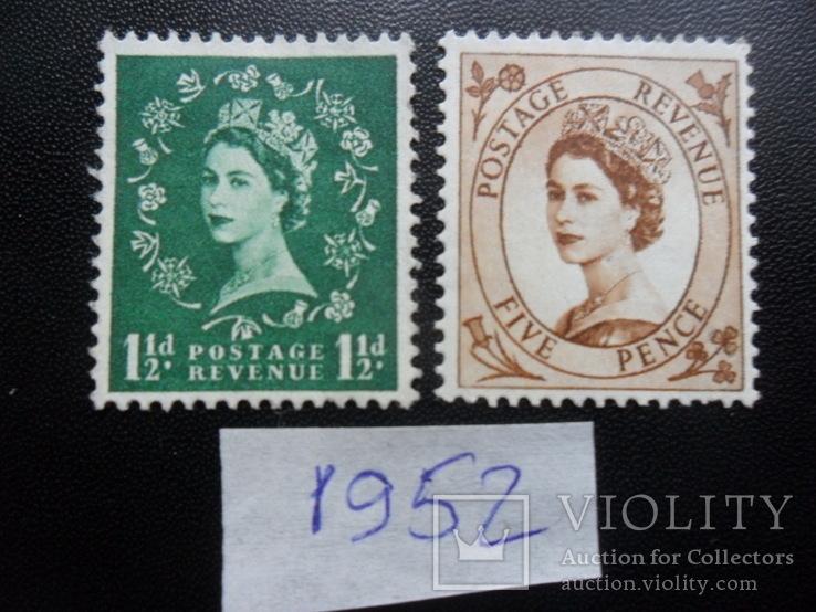 Великобритания. 1952 г. Королева. MLH, фото №3