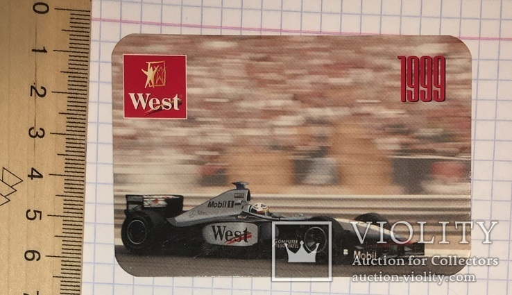 Реклама West McLaren Mercedes, 1999 / Мерседес, формула 1, фото №3