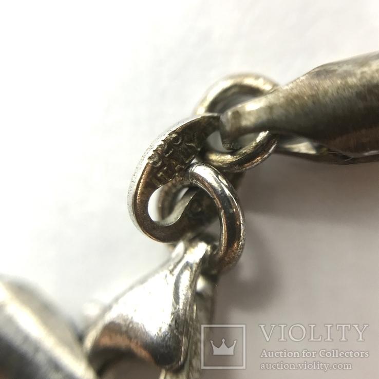 Подвес камень и серебро на шнурке, фото №4