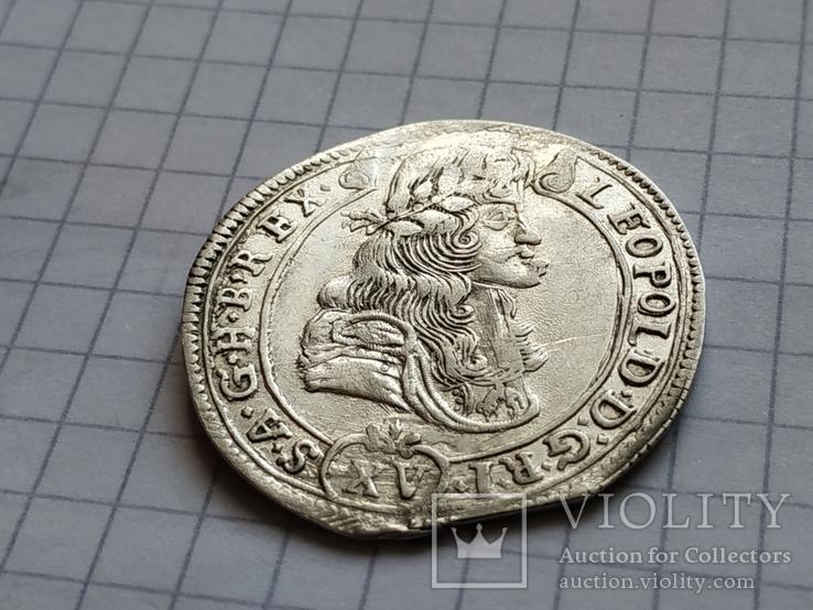 15 крейцерів 1686 року Леопольда (KB), фото №5
