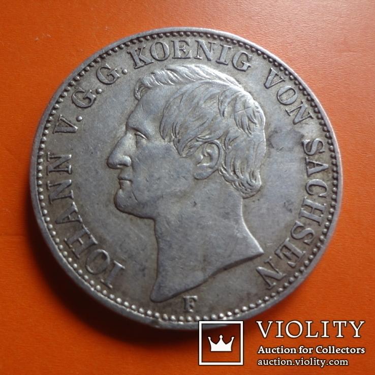 1 талер  1858 Саксония  серебро  (Т.1.7)~