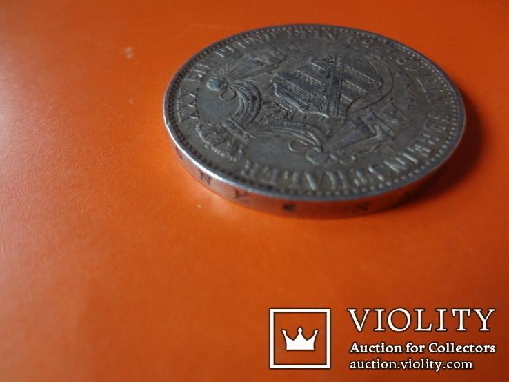 1 талер  1858 Саксония  серебро  (Т.1.7)~, фото №5