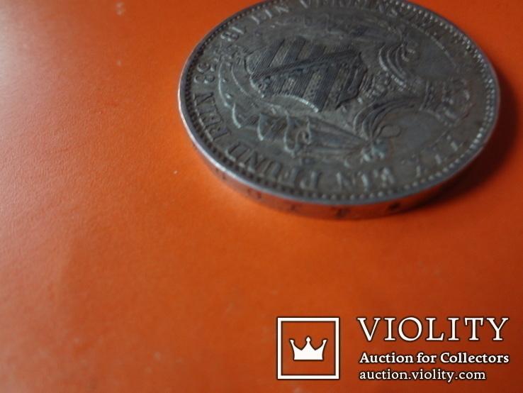 1 талер  1858 Саксония  серебро  (Т.1.7)~, фото №6