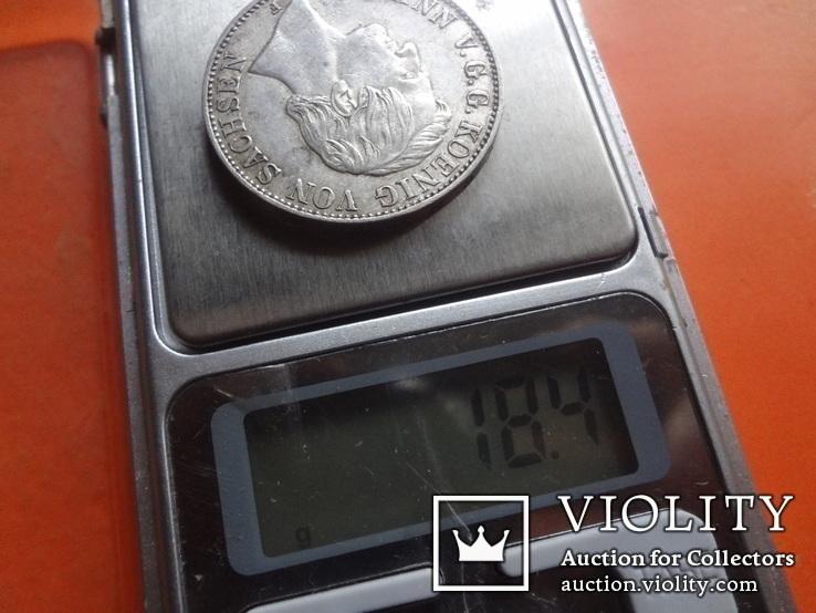 1 талер  1858 Саксония  серебро  (Т.1.7)~, фото №8