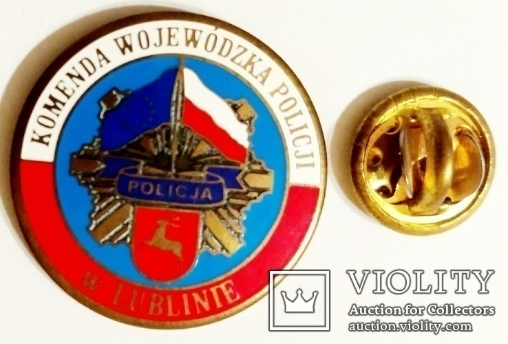 Значок фрачник полиции Люблинского воеводства Польши, фото №2