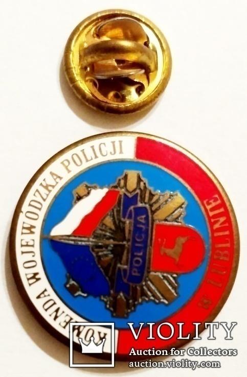 Значок фрачник полиции Люблинского воеводства Польши, фото №5