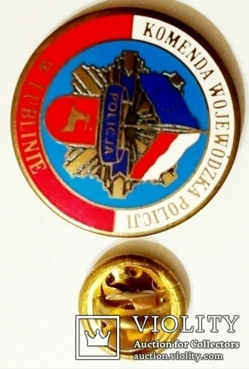 Значок фрачник полиции Люблинского воеводства Польши, фото №6