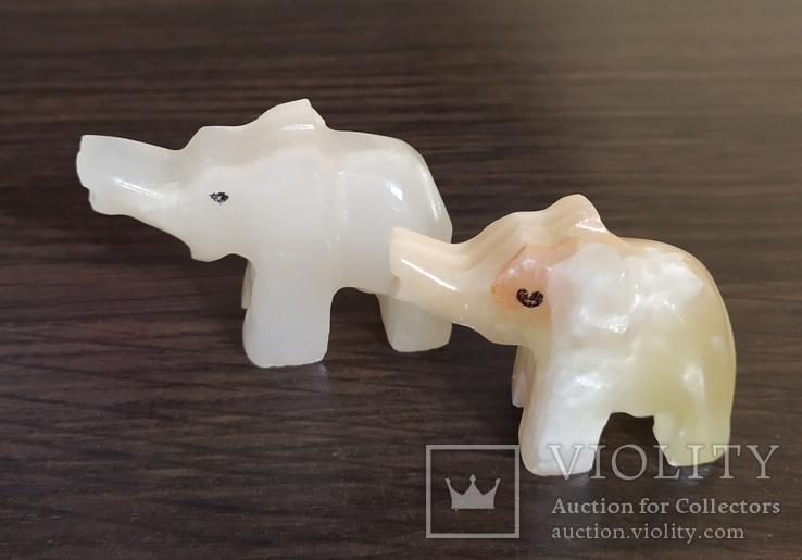 Бокалы и слоники. Оникс. Подарочный набор, фото №7