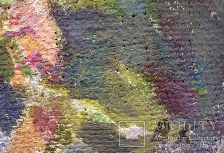 "В.Кнышевский ""Лето.Подсолнухи"",х.м.25*40см,1981г, фото №5"