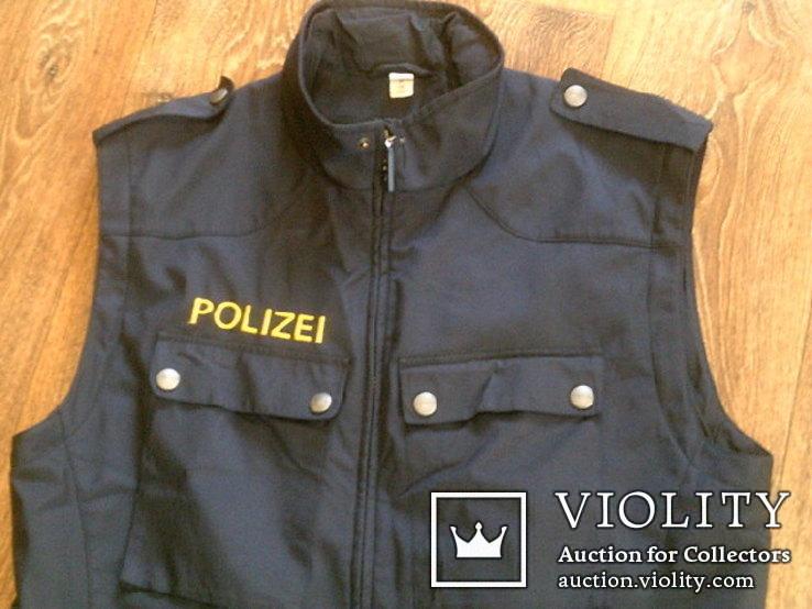 Жилетка Polizei +Justizwache рубашка (большой размер), фото №4