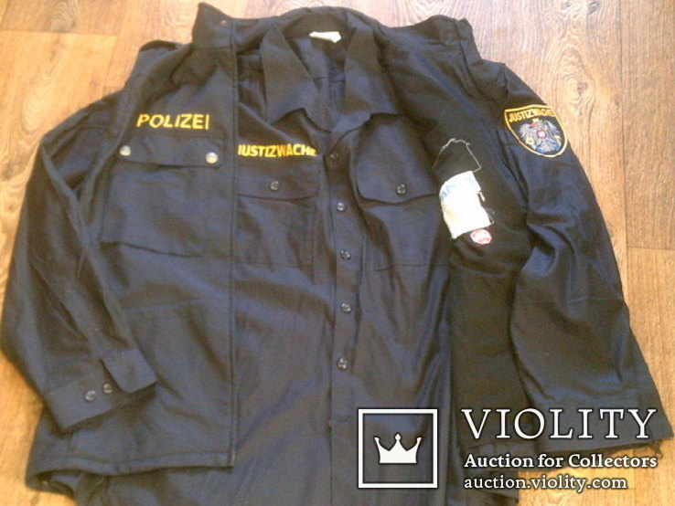 Жилетка Polizei +Justizwache рубашка (большой размер), фото №13