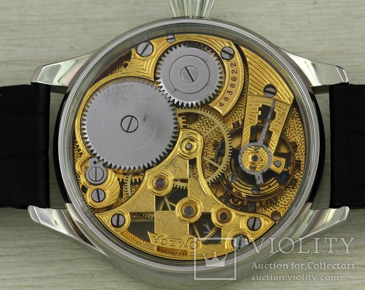 Часы марьяж Omega скелетон шахматы, механизм 1910х годов, фото №7