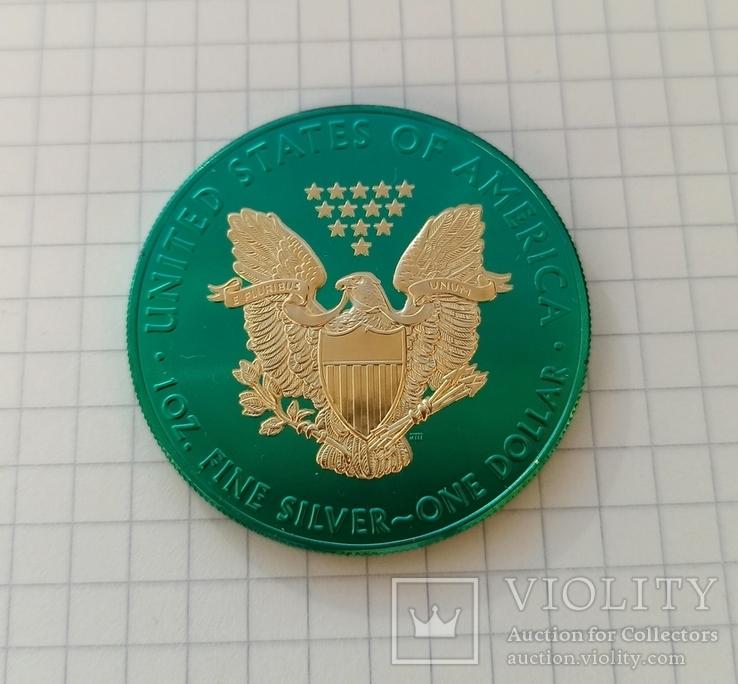 Американский серебряный орел 2020 Space Metals American Silver Eagle, фото №3