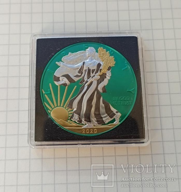 Американский серебряный орел 2020 Space Metals American Silver Eagle, фото №8