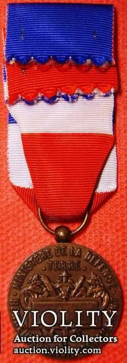 Франция, Медаль почета Министерства обороны, 3 Тип, разновидность - сухопутные войска, фото №3