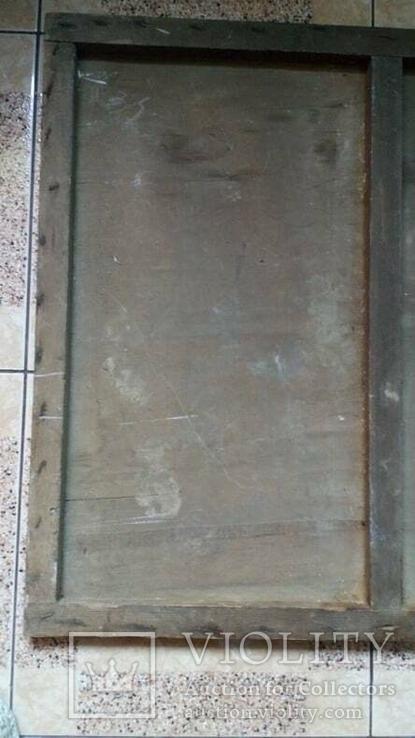 Икона старинная большая Святая Троица 81 х 71 см, фото №9