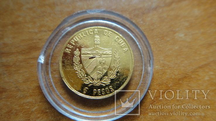 5 песо золото культура ацтеков 1,2 грамм 999,9