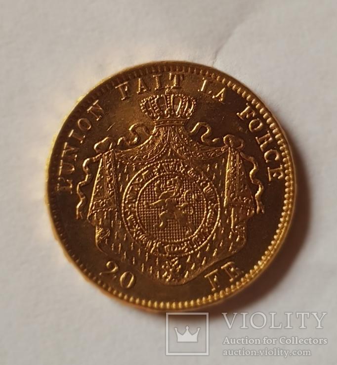 Бельгия, 20 франков 1878г. aUNC, фото №6
