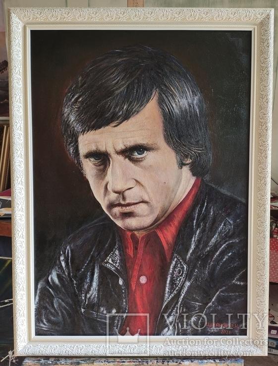 Портрет памяти Владимира Высоцкого (50 x 70, холст, масло), фото №2