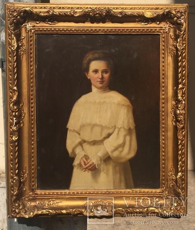Красивый женский портрет.1906 г., фото №2