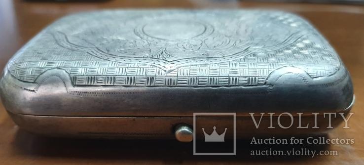 Табакерка серебро 84 пробы, фото №3