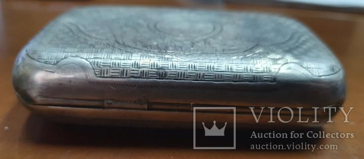 Табакерка серебро 84 пробы, фото №5