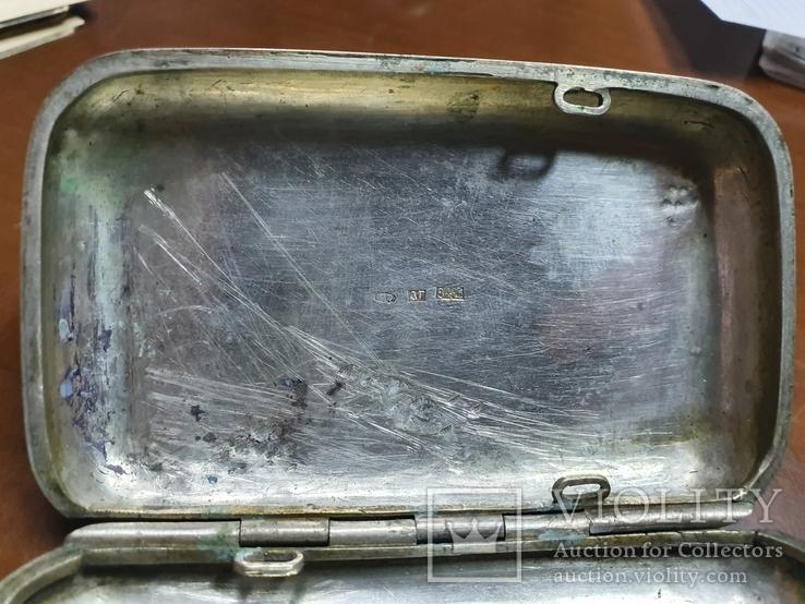 Табакерка серебро 84 пробы, фото №6