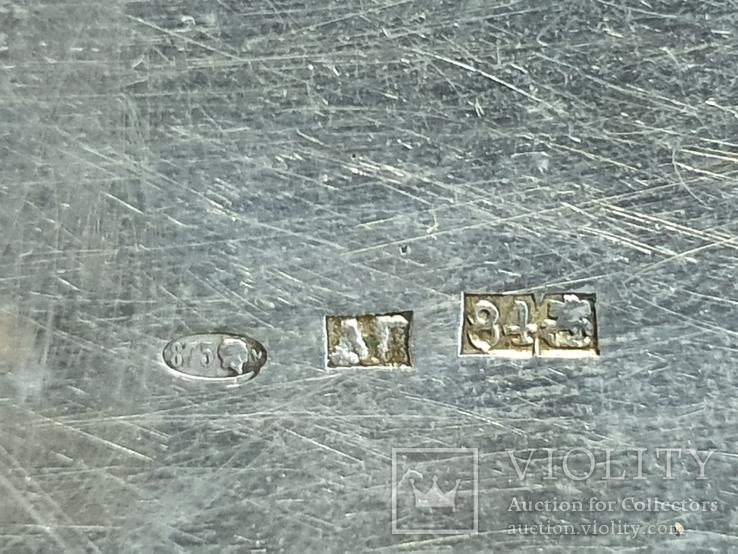 Табакерка серебро 84 пробы, фото №7
