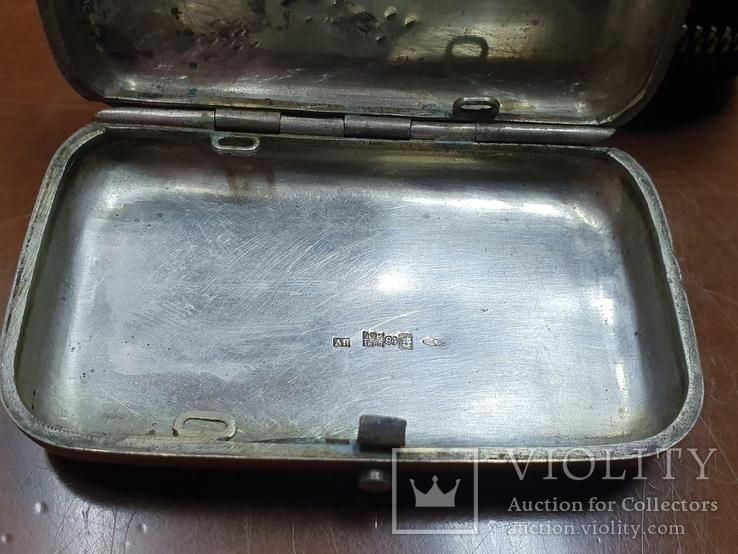 Табакерка серебро 84 пробы, фото №8