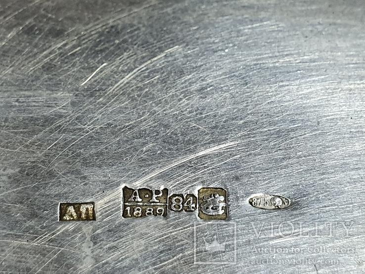 Табакерка серебро 84 пробы, фото №9