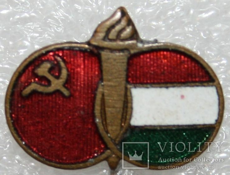 """Значок """"Содружество Венгрия-СССР"""" (Венгрия) тяжелый, фото №2"""