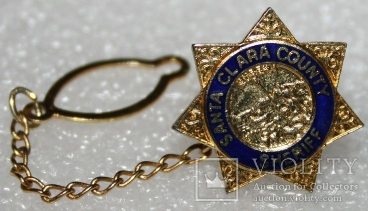 Петличный зажим для галстука шерифа полиции округа Санта Клара (США), фото №2