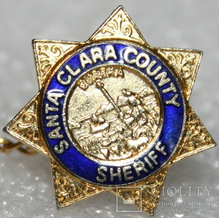 Петличный зажим для галстука шерифа полиции округа Санта Клара (США), фото №3