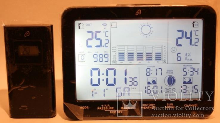 Домашняя метеостанция-ассистент Auriol с сенсорной панелью 2019 г.(Германия, фото №3