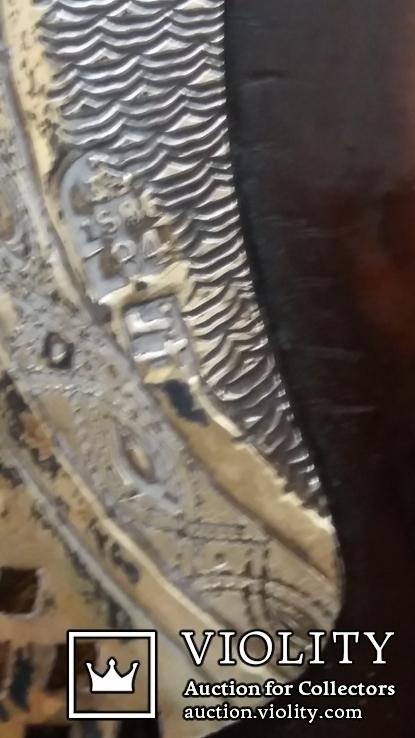 Икона Господь Вседержитель 1886 год, оклад серебро, фото №6