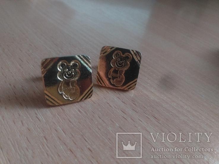 Запонки олимпийский мишка, фото №2