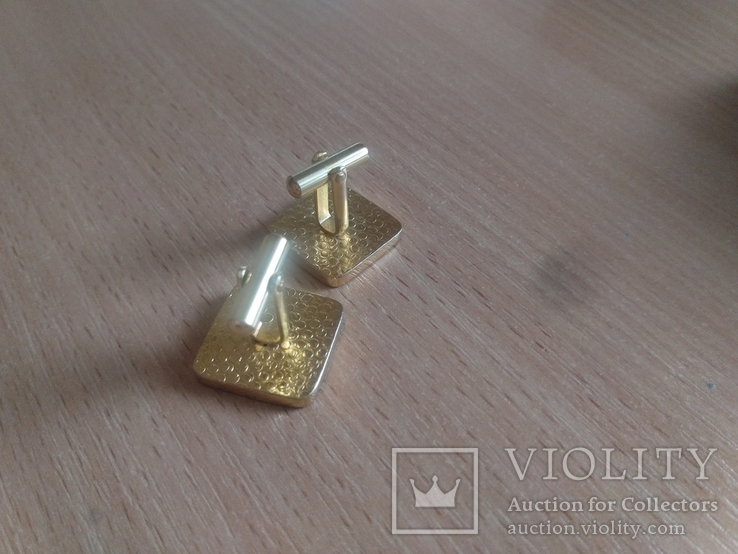 Запонки олимпийский мишка, фото №3
