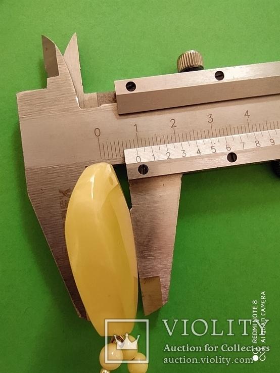 Колье- пейзажный янтарь.  Вес - 14.43 гр., фото №13