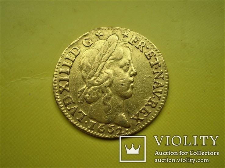 Луидор 1652 г. Франция.