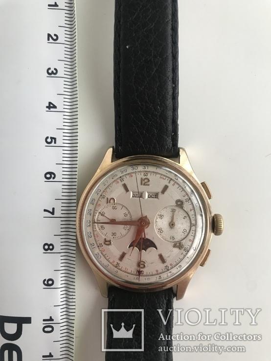 Швейцарские часы хронограф лунник, фото №2