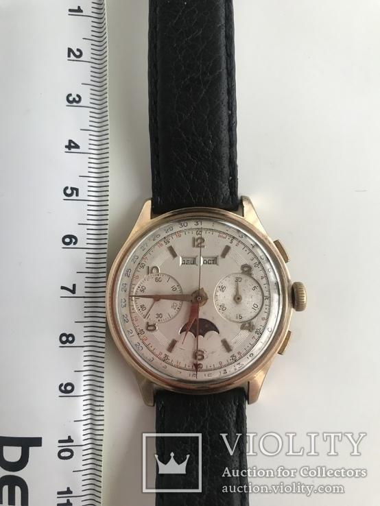 Швейцарские часы хронограф лунник, фото №3