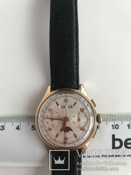 Швейцарские часы хронограф лунник, фото №4