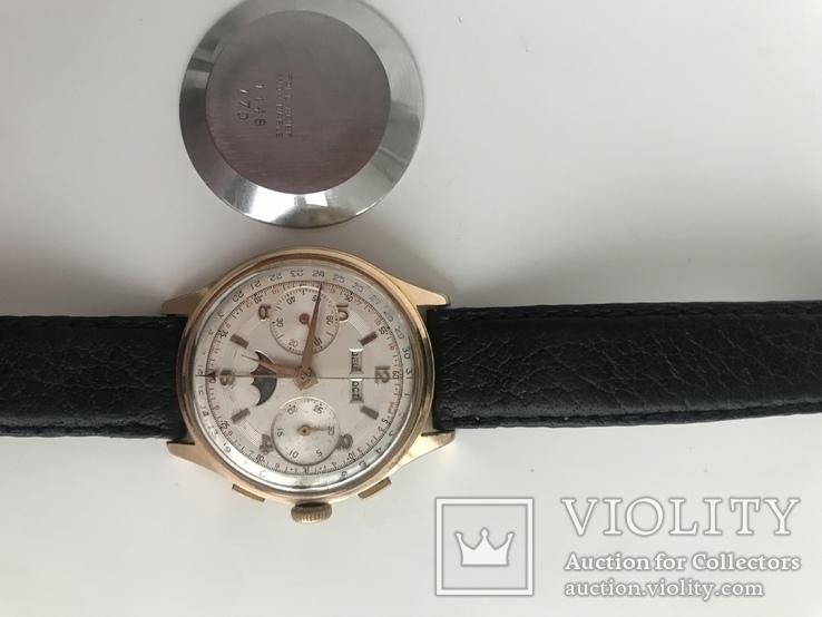 Швейцарские часы хронограф лунник, фото №7
