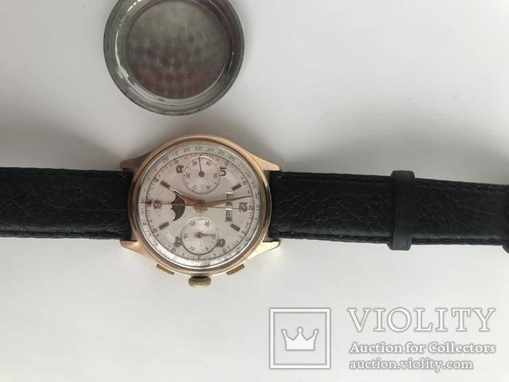 Швейцарские часы хронограф лунник, фото №10